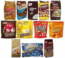 Assorted Chocolate Lover-Huge Bag of Twix, Dove, Hershey, Kisses, M&M,or Reese's