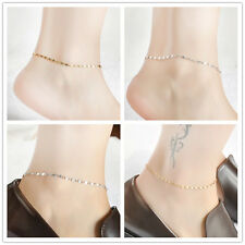 Women Gold Chain Anklet Ankle Bracelet Barefoot Sandal Beach Foot Simple Jewelry