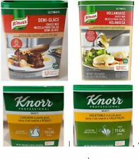 Knorr Seasoning Base: Vegetable, Chicken, Sauce Mix Hollandaise, Demi-Glace