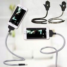 Flexible USB Data Sync Cable Bracket Car Charger Holder Dock Stand For iPhone
