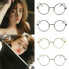 Classic Metal Frame Clear Round Lens Glasses Nerd Spectacles Eyeglass Unisex New