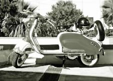 Lambretta Motorcycle Scooter Picture Wall Art Print Poster A3 A4
