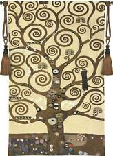 "Tree of Life Klimt Art Tapestry Wall Hanging 54""x31"" Home Decor Free Tassels"