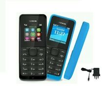 NEW Genuine Nokia 105 Simple Easy To Use FM Unlocked Torch Black Mobile Phone