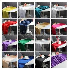 "12pcs 12""x108"" Satin Pintuck Table Runner for Wedding Banquet Home Decor Colours"