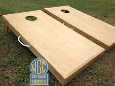 Plain Unfinished Cornhole Board Set with Bags