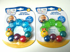 BABY EINSTEIN CATAPILLAR RATTLE AND TEETHE WATER FILLED TEETHER 3M+ BPA FREE