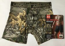 "Under Armour Men's 6"" Original Boxerjock Realtree Xtra Boxer Brief Size M L NIB"