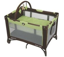 Baby Playpen Play Yard Fold-able Bassinet Toy Bar Portable Graco Pack n Play Bed