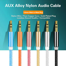 LOT 3FT 3.5mm Auxiliary Aux Male to Male Stereo Audio Cable Cord iPod Car iPhone