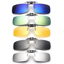 Polarized Clip On Sunglasses Sun Glasses Driving Night Vision Lens Free Shipping