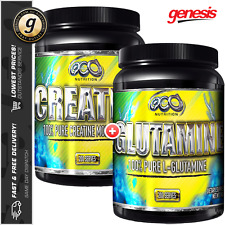 OCD Nutrition Creatine Monohydrate + Glutamine - Huge Strength & Recovery Combo!