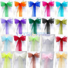 1 10 25 50 100 ORGANZA SASHES CHAIR COVER BOW SASH WIDER SASHES FOR A FULLER BOW