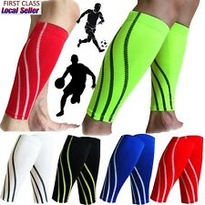 2017 NEW DELUXE CALF SLEEVE SUPPORT COMPRESSION WARMTH SHIN SPLINT FOOTBALL GYM