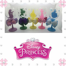 Princess Silhouette Bow glitter Wine  glass + Free Display Box (gift.disney)