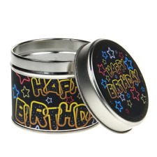 In-Scents Fragrant Gift Neon Stars Happy Birthday Tin Candle - Various Scents