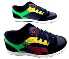 AIRWALK MENS REFLEX TRAINERS SKATE SHOE LACE UP SUEDE BLACK/RED/GREEN 7-12 NEW