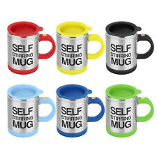 Stainless Self Stirring Mug Auto Mixing Tea Coffee Cup Office Gift YD004 O6