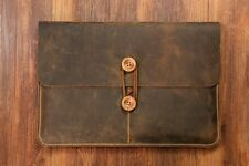 """Vintage leather macbook laptop sleeve case for 2016 new macbook pro 13"""" 15"""""""
