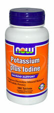 Now Foods Potassium Plus Iodine 180 Tabs FAST 1st Class SHIPPING