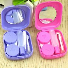 Carry Container Mirror Contact Lens Box Solution Bottle Tweezers Storage Case