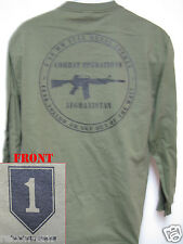 1st ID LONG SLEEVE ARMY T-SHIRT/ AFGHANISTAN COMBAT OPS / NEW/ MILITARY