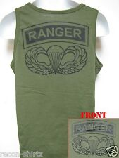 AIRBORNE RANGER TANK TOP/ OD GREEN/ T-SHIRT/ MILITARY/ ARMY / NEW