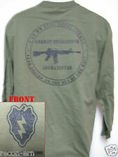 25th I.D. LONG SLEEVE T-SHIRT/ AFGHANISTAN COMBAT OPS / MILITARY/ ARMY / NEW