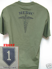 IST ID T-SHIRT/ 1ST INFANTRY DIVISION/ MEDIC/ COMBAT/ ARMY/  MILITARY / NEW