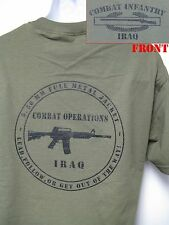 CIB IRAQ T-SHIRT/ IRAQ COMBAT OPS/MILITARY/ARMY T-SHIRT/ VETERAN T-SHIRT/   NEW