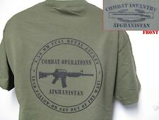CIB AFGHANISTAN T-SHIRT/ AFGHANISTAN COMBAT OPS/MILITARY/ARMY T-SHIRT/ VETERAN