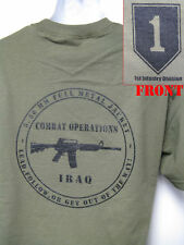 1ST INFANTRY DIVISION IRAQ COMBAT OPERATION T-SHIRT