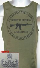 MASTER EOD OD GREEN TANK TOP/ no text/ MILITARY/ AFGHANISTAN COMBAT OPS/ NEW