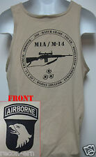 101ST AIRBORNE TANK TOP/ M14 M1A /  MILITARY TAN / ARMY / NEW