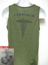 NAVY CORPSMAN TANK TOP/ OD/ HOSPITAL CORPSMAN/ USMC/ MARINES/ MILITARY/  NEW