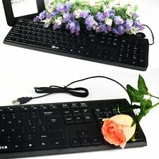 Ultra Thin 104 Keys Gaming Keyboard Mini USB Wired Keyboard For Laptop PC Lot F5