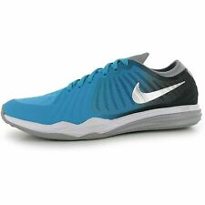 Nike Dual Fusion Print Running Shoes Womens Blue/Silver Run Trainers Sneakers