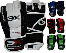 3XSports MMA Grappling Gloves UFC Training Kick Boxing Fight Mitts Sparring Thai