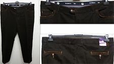 Plus size smart Men's Stretch Trousers d. brown mit Elasticated waistband