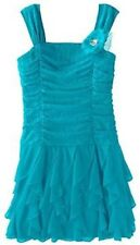MY MICHELLE RUCHED PARTY HOLIDAY DRESS GIRLS Size: 7 8 10 NWT $58 NEW TURQUOISE