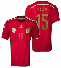 ADIDAS SERGIO RAMOS SPAIN HOME JERSEY FIFA WORLD CUP BRAZIL 2014.