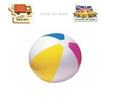 """Inflatable Beach Ball 16"""" 20"""" 24"""" Blowup Panel Holiday Party Swimming Garden Toy"""