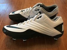 NEW Nike Super Speed D Low Football Cleats Men's Size 14 White/Black 396238