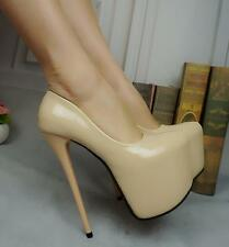 Hot Womens Patent Leather Shoes Super High Heel stiletto T Stage night club Pump