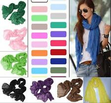Fashion Candy Colors Long Pure Candy Scarf Womens Soft Crinkle Wraps Shawl Stole