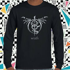 New LAMB OF GOD Wrath logo Band Men's Long Sleeve Black T-Shirt Size S to 3XL