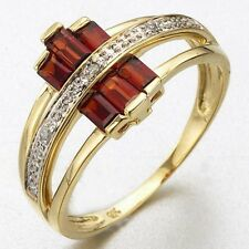 Popular Size 6,7,8,9,10 Red Garnet 18K Gold Filled Woman's Engagement Ring Gift