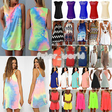 New Womens Summer Casual Sundress Evening Party Cocktail Beach Short Mini Dress