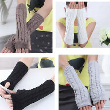 Fashion Winter Unisex Arm Warmer Women Men's Gloves Fingerless knit Mitten U.S.A