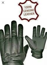 POLICE SECURITY DOORMAN TACTICAL SAND FILLED KNUCKLE PROTECTION LEATHER GLOVES